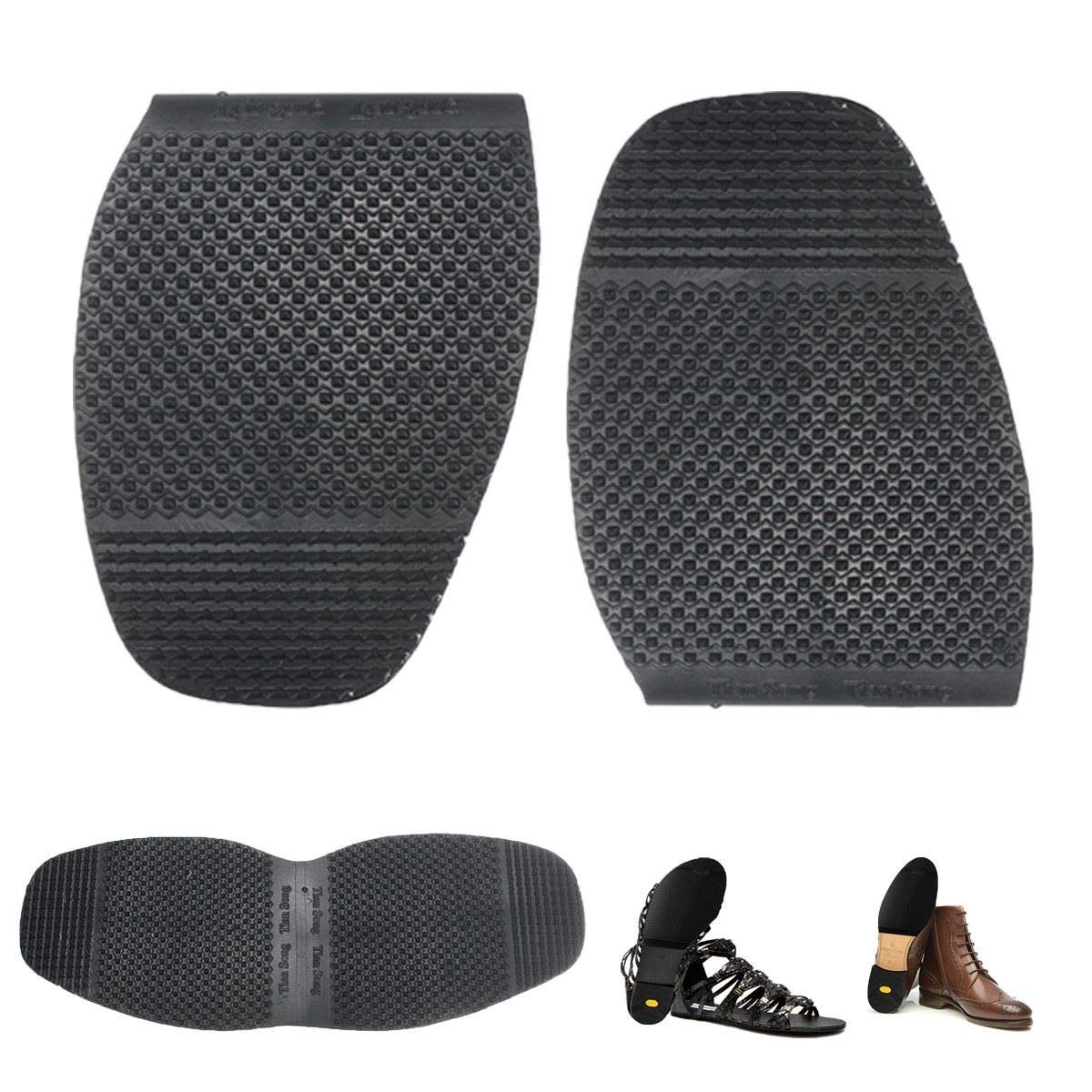 Gold Happy 2 in 1 Rubber Men's Soltrack DIY Stick On Soles, Heel Shoe Repair Anti Slip Grip-Rubber Pad Shoes Cushions