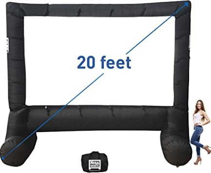 NEW Elite Outdoors Inflatable Backyard 17 Feet Movie Screen Front Projection