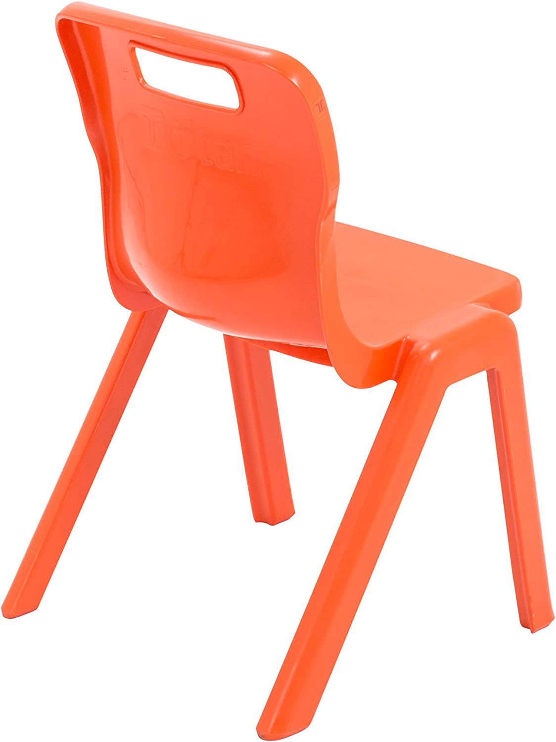 Size 2 for Ages 3-5 Years Orange Pack of 3 Plastic Titan One Piece Classroom Chair