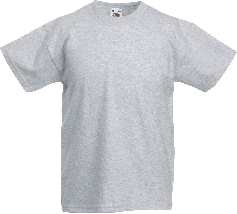 Fruit of The Loom Children Value T-Shirt Girls Boys Top Plain Toddler Unisex Kids Age 3-15