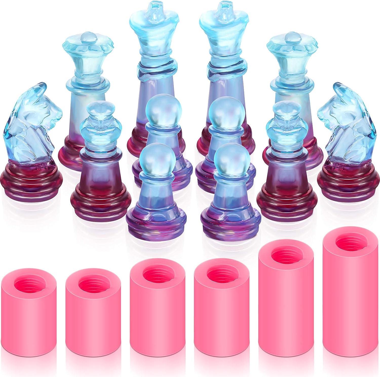 moldes de silicona para resina piezas de ajedrez en 3D