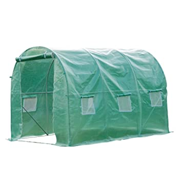 Outsunny Walk in Polytunnel Outdoor Garden Greenhouse with Windows and Doors (3 x 2M)  sc 1 st  Amazon UK & Outsunny Walk in Polytunnel Outdoor Garden Greenhouse with Windows ...