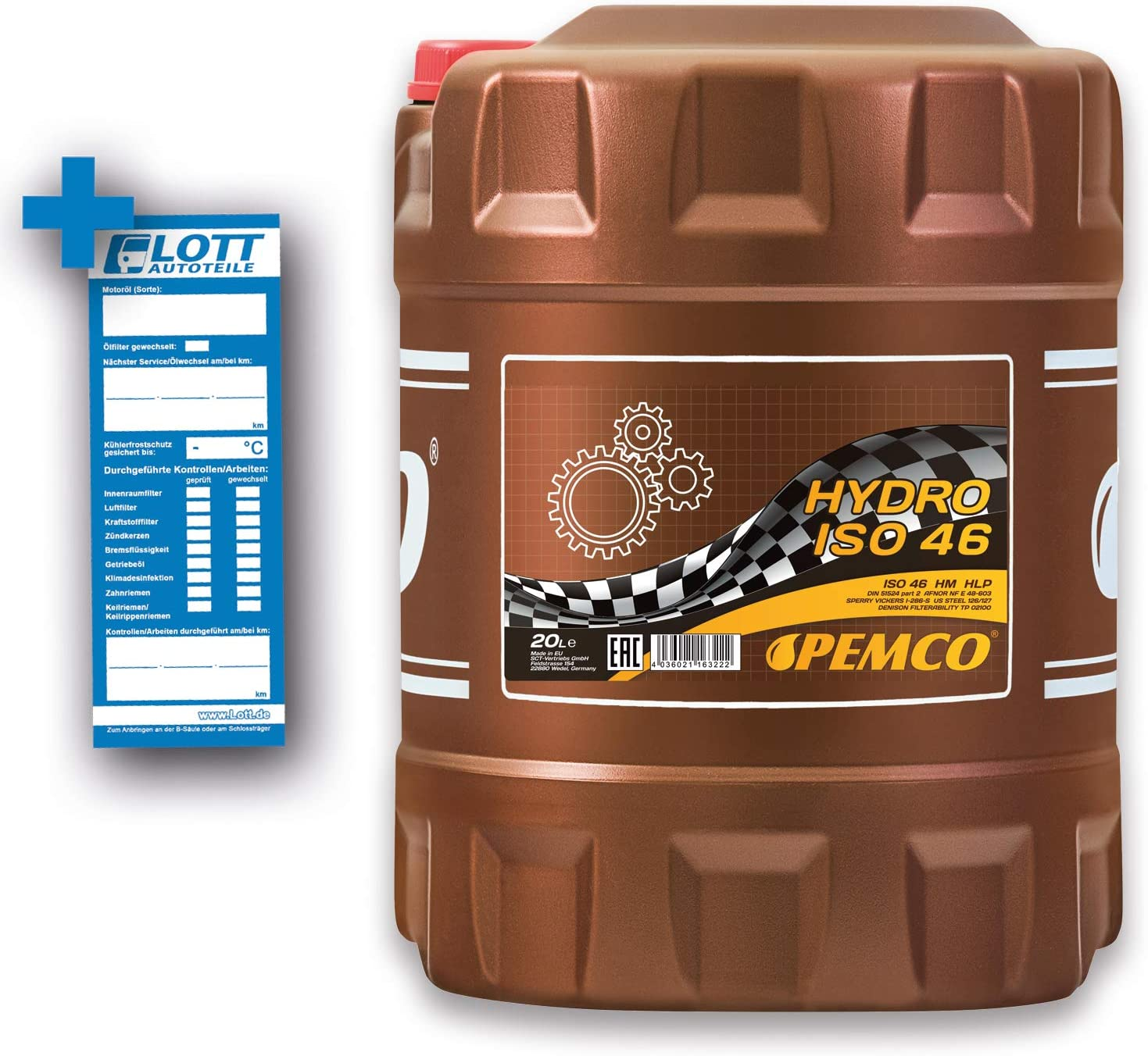 20 Liter Pemco Hydro Iso 46 Hydrauliköl Hlp 46 Auto