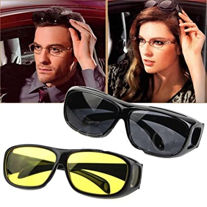 bfb6fd1dcb9 Buy Siddhi Collection HD Vision Wraparounds Sunglasses and Night Vision  Glasses Combo Pack Men and Women Online at Low Prices in India - Amazon.in
