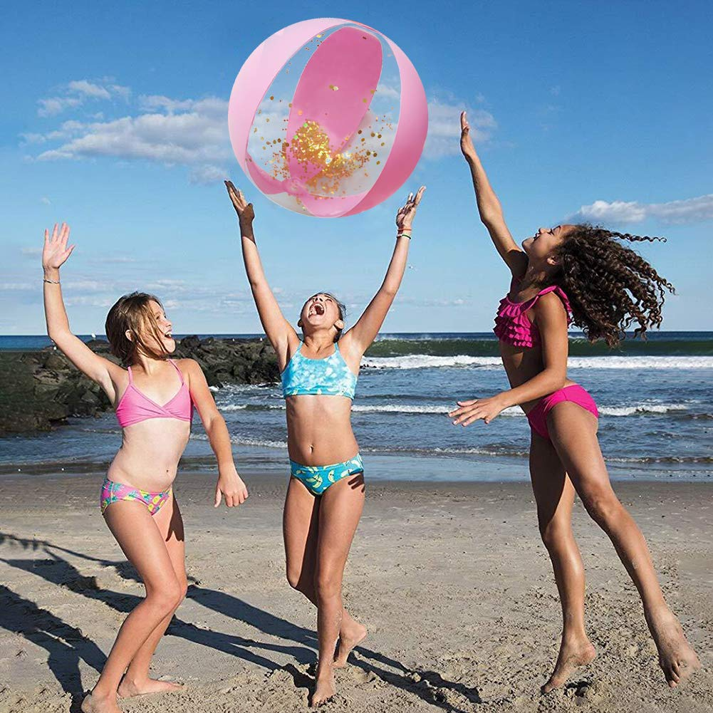 Amor Inflatable Glitter Beach Ball 16\