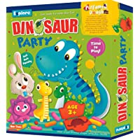Explore | Perfumed Dough | Dinosaur Party (Fun & Creative Learning Activity Toy Set for Role-Play with 4 Colours of Non-Toxic Perfumed Dough for Ages 3+ of Boys and Girls)