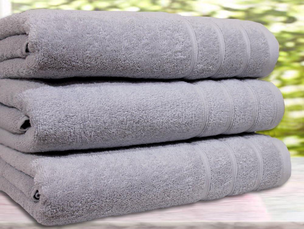 Juego de 3 toallas de ba/ño 3 Bath Towel beige algod/ón egipcio de 550/g//m/² algod/ón tama/ño extragrande