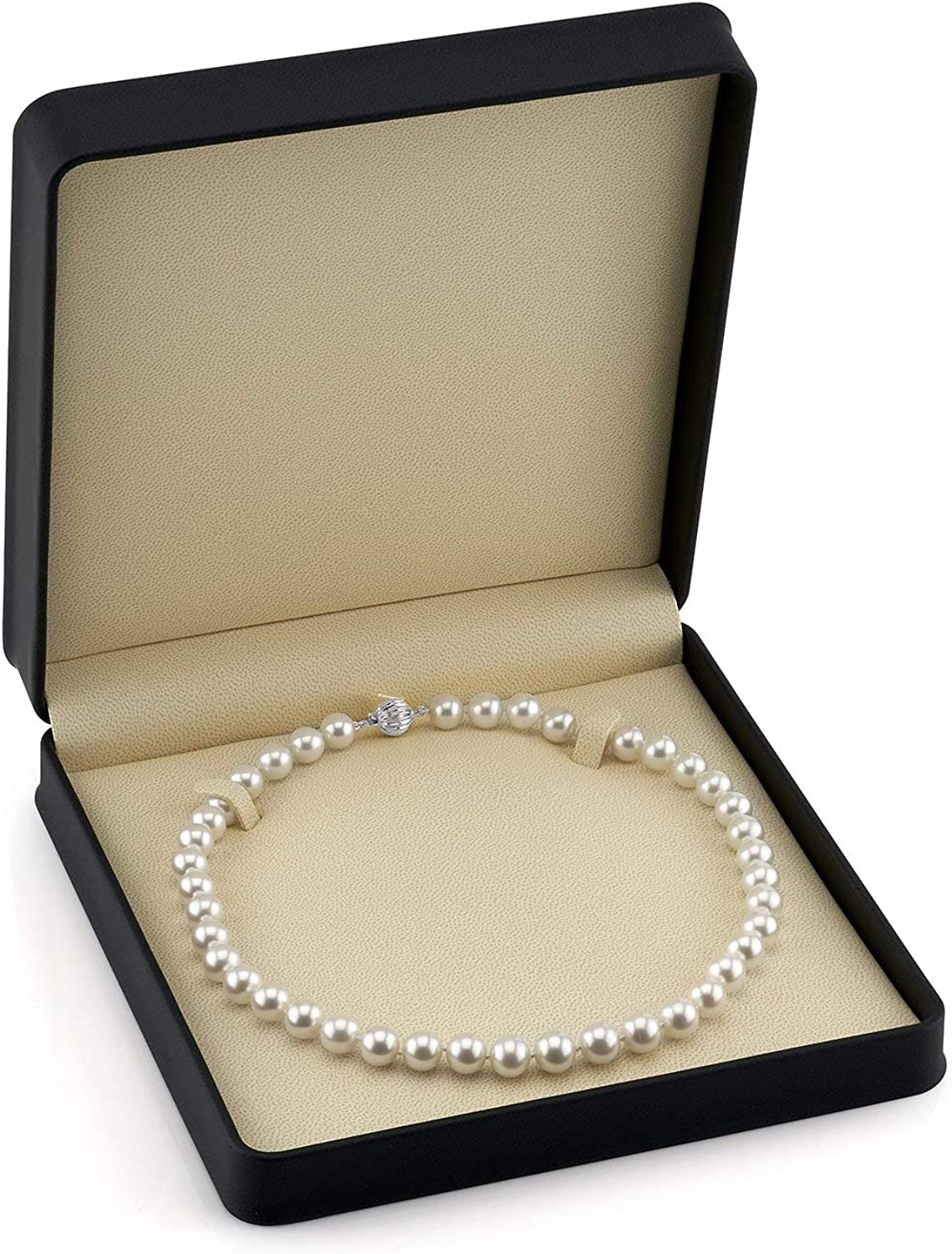 """P8060-17/"""" 8-9 mm Naturel Rouge Baroque Freshwater Pearl Necklace-GP Fermoir"""