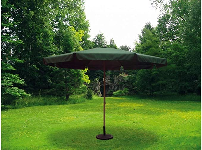 sol-jardin Sombrilla Parasol 3,5 Metros diámetro Tubo 48mm de Aluminio y Tela de Poliester Color Verde: Amazon.es: Bricolaje y herramientas