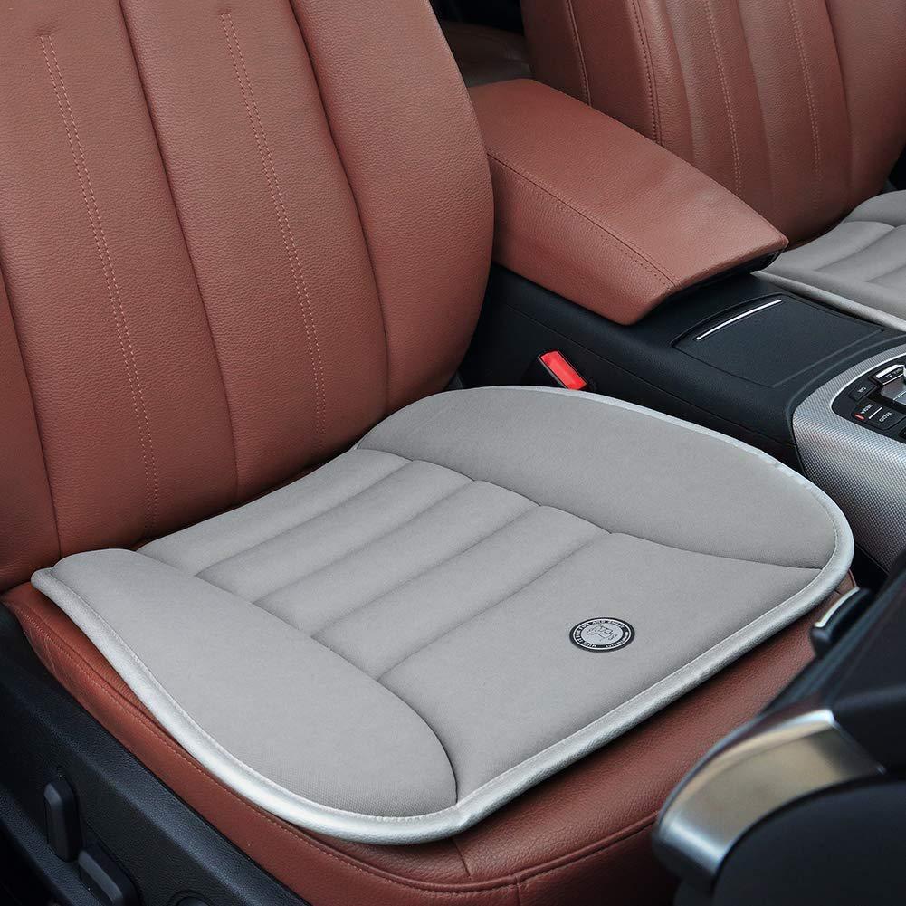 Biback Car Seat Cushions - Waterproof Non-slip Memory Foam Car Seat Pad for Release Pain for Car Home Office 47cm(W) x 54cm(L)