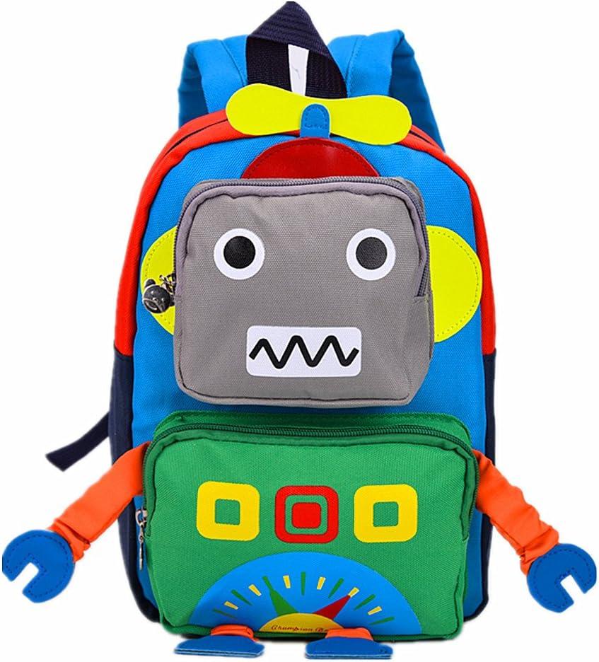 Teman - Mochila Infantil Niños Green Robot Small