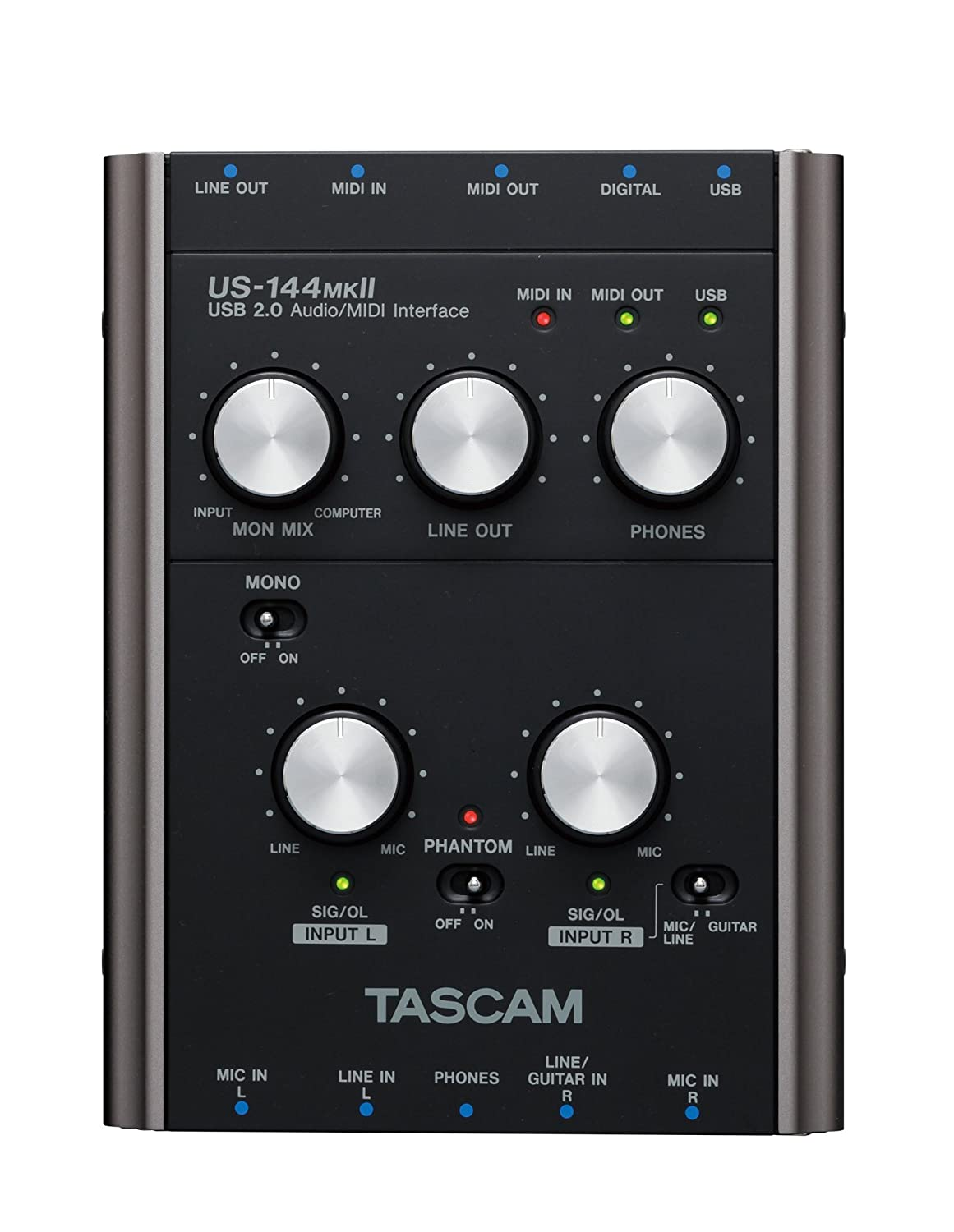 Good Condition Available In Various Designs And Specifications For Your Selection Pro Audio Equipment Analytical Tascam Us-144mkii Usb Audio Recording Interface