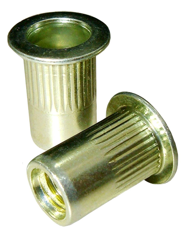 Amazon com: Rivet Nuts Threaded Inserts 25 Pack M6X1 0 Zinc Plated