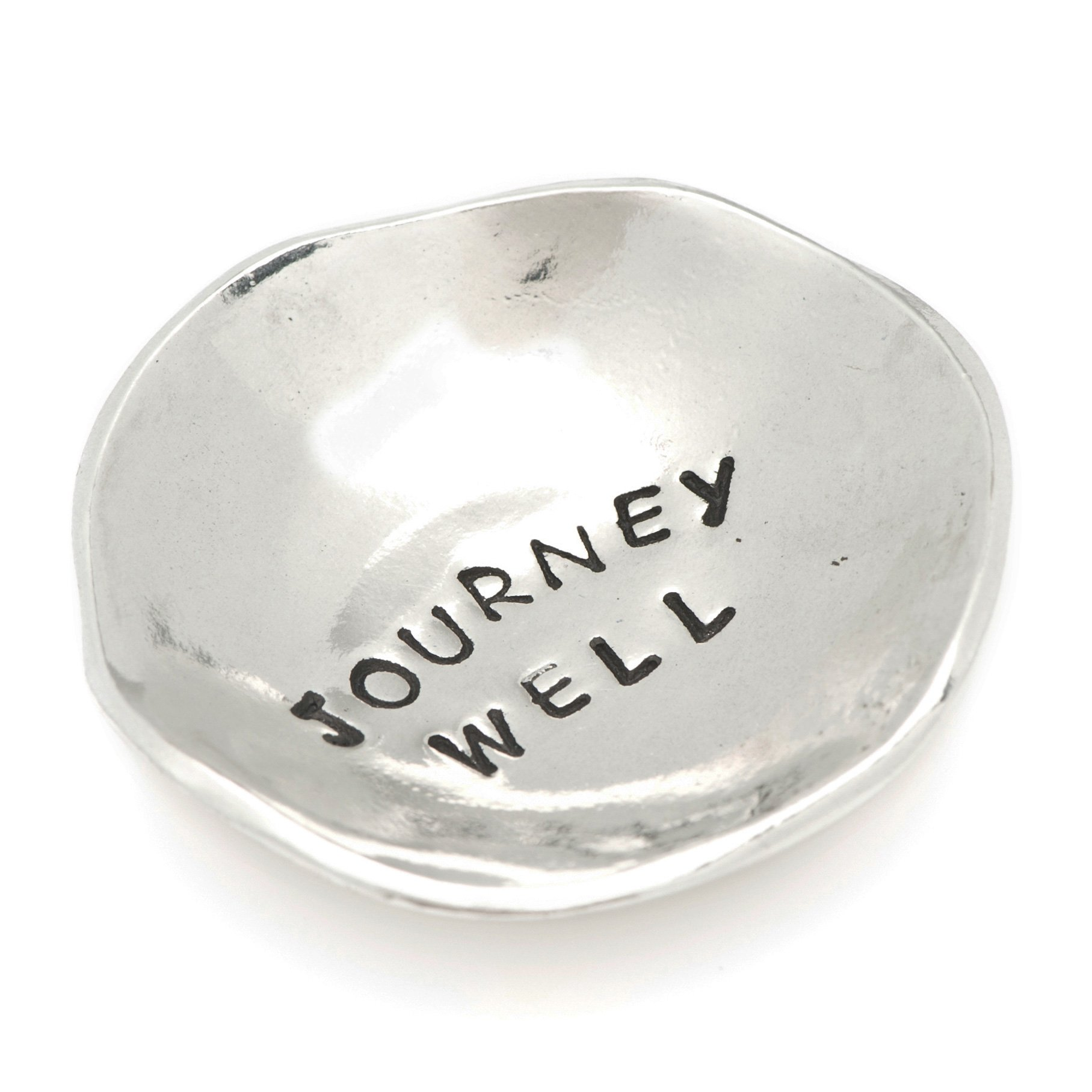 Journey Well Small Pewter Trinket Dish