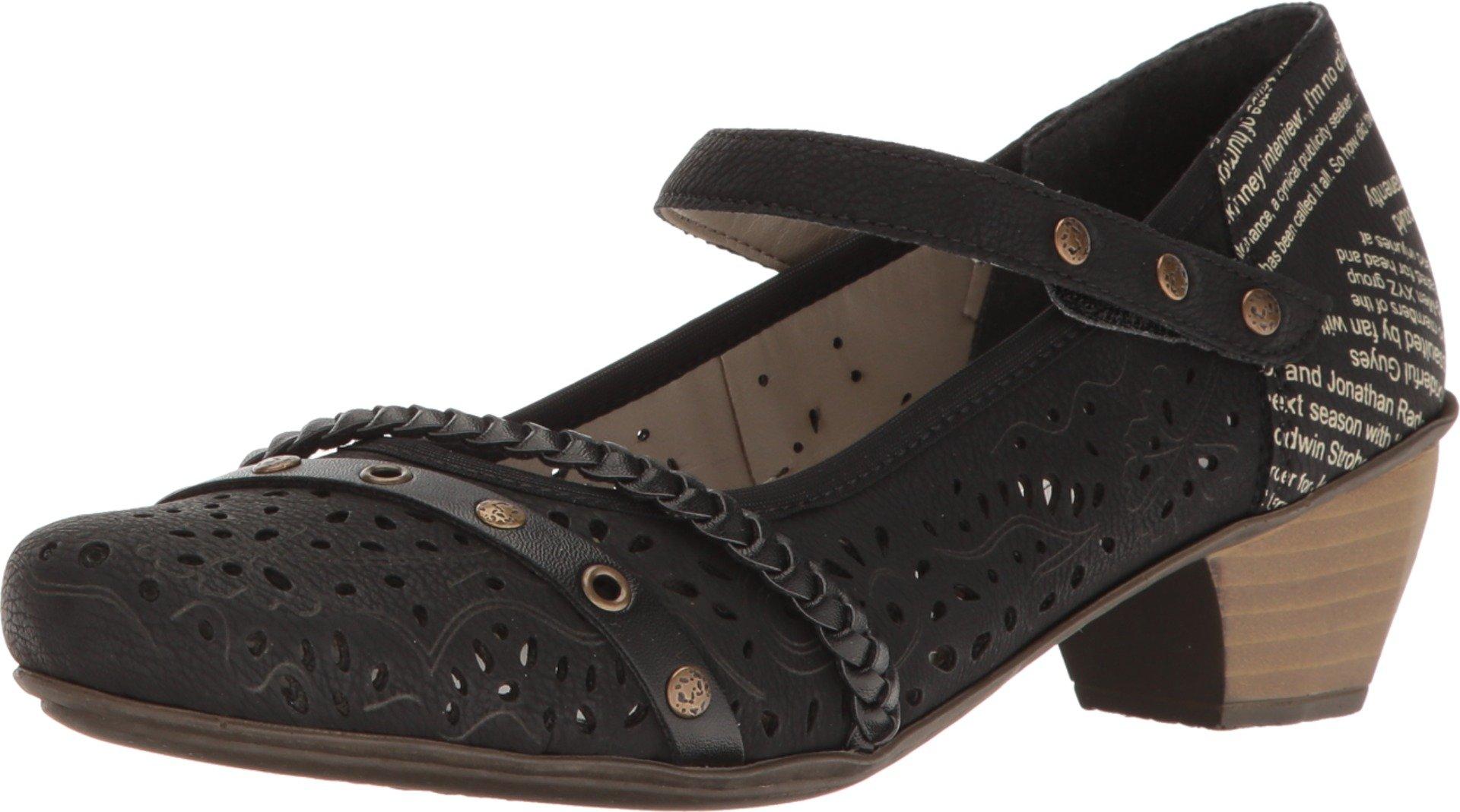 Rieker Women's 41756 Mariah 56 Black/Black/Mombasa/Fino Shoe