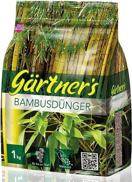 Fertilizante de bambú de Gärtners, 1 kg, Fertilizante NPK para Plantas de bambú, bambú de jardín y Hierba de jardín, abono NPK para Plantas 8+3+5 I para hasta 10 m2: Amazon.es: Jardín