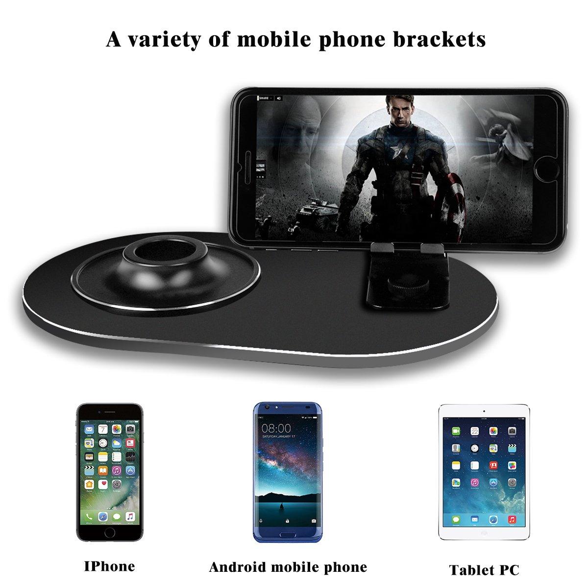 multifunci/ón Soporte 2 en 1 para Apple Homepod con Soporte para tel/éfono m/óvil Soporte de Base para Altavoces Apple Homepod de Lujo