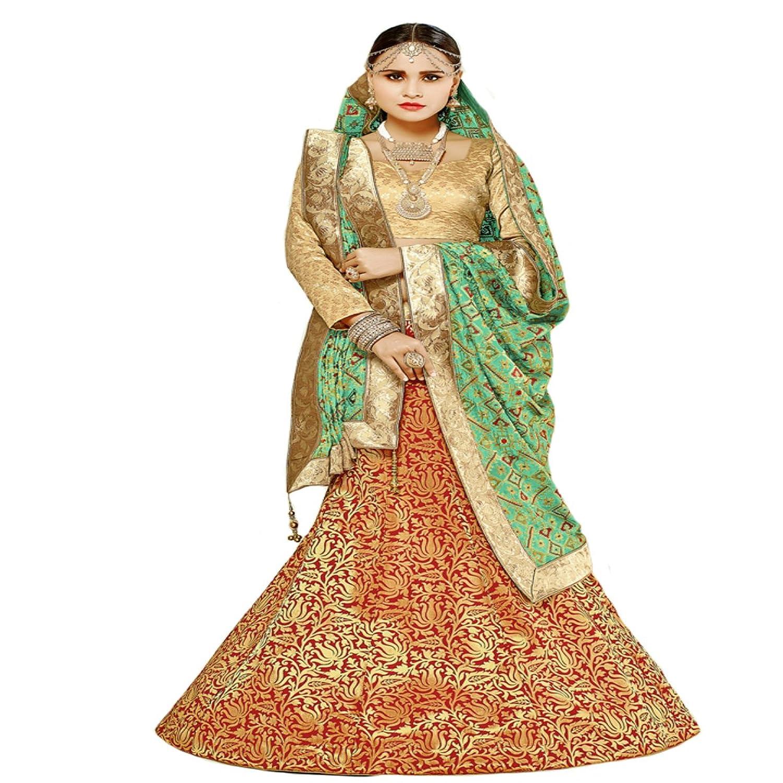 Indian Ceremony Bollywood Lehenga Choli Dupatta Wedding Eid Muslim Women Dress Blouse Punjabi 811