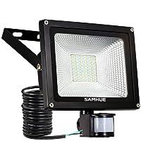 30W Projecteur LED détecteur de mouvement , lumières d'inondation de SAMHUE de la haute luminosité , rendement élevé 2500lumen, remplacement équivalent de lumières de halogène de 150W, lumière du jour blanche, imperméable à l'eau, lumière de sécurité, projecteur de PIR [Classe énergétique A ++]