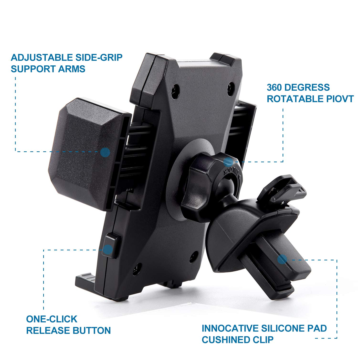 7 7 SE 6s 6 6 5s Samsung Galaxy S10 S9 S8 S7 S6 S5 S4 and More Phone Holder for Car Amoner Car Mount for Cell Phone Air Vent Phone Mount Holder Cradle Compatible with iPhone X XS Max XR X 8 8