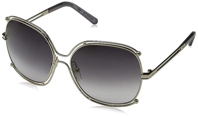 Chloé CE129S 744 59, Gafas de sol para Mujer, Gold/Grey ...