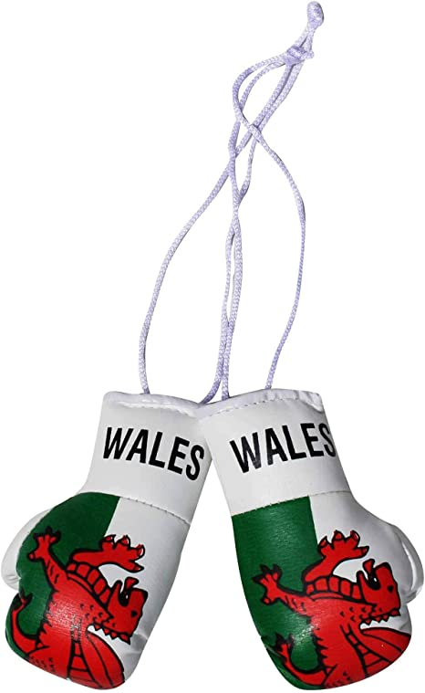 WALES COUNTRY FLAG MINI BOXING GLOVES . NEW