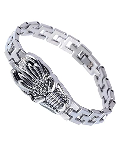 Young   Forever 316 Stainless Steel Wolf Dragon Horse Scorpio Bracelet For  Men 602b0cc5ab34