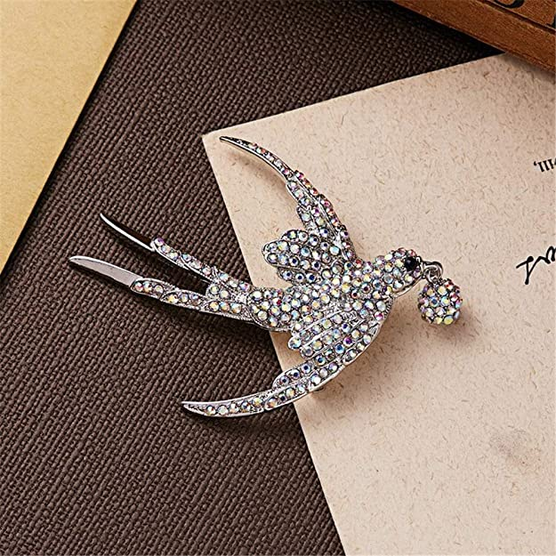 8eaa50a85 Amazon.com: AILUOR Lovely Crystal Swallow Brooch Pins, Elegant Rhinestone  Animal Bird Collection Custom Accessories Wedding Brooches Lapel Pin  Jewelry Gifts ...