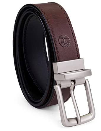 408316d2221 Timberland Men s Classic Leather Belt Reversible From Brown To Black ...