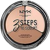 NYX PROFESSIONAL MAKEUP 3 Steps to Sculpt, Face Sculpting Contour Palette - Fair