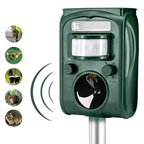 Amazon.com: FAYINWBO solar ultrasonic outdoor animal ...