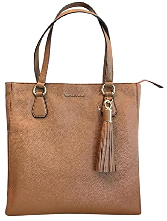 061e86f6b809 Amazon.com: Michael Kors 35S7GBFT2L Bedford Acorn Pebbled Leather Zip Tote  Handbag: Clothing