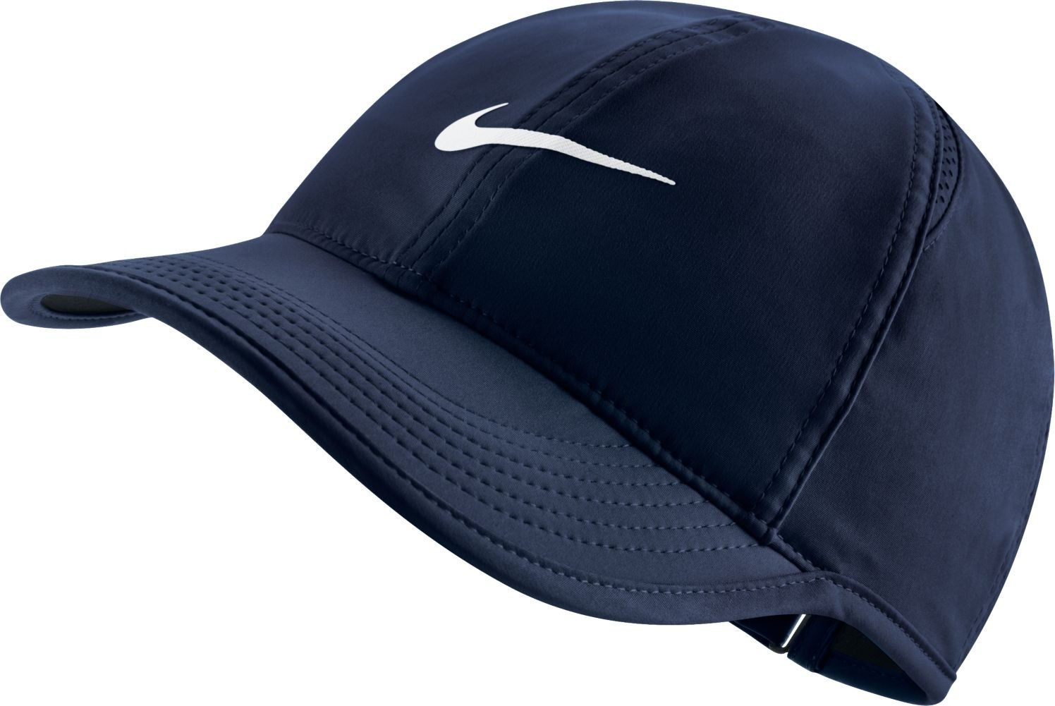 Nike Women's Featherlight Cap One Size (Obsidian/White)