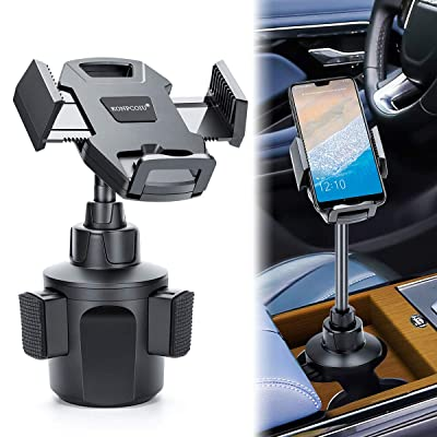 Car Cup Holder Phone Mount,Adjustable Automobile Cup Holder Smart Phone Cradle Car Mount with a Flexible Long Neck Compatible for Cell Phones iPhone Xs Max/X/8/7 Plus/Galaxy and All Smartphones