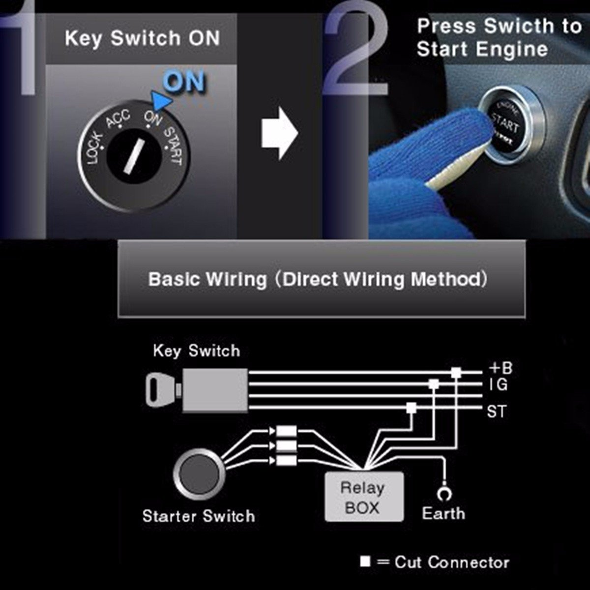 Eluto Ignition Switchled Auto Engine Starter Push Button On Switch Wiring Diagram Kitred Illumination Car Motorbike