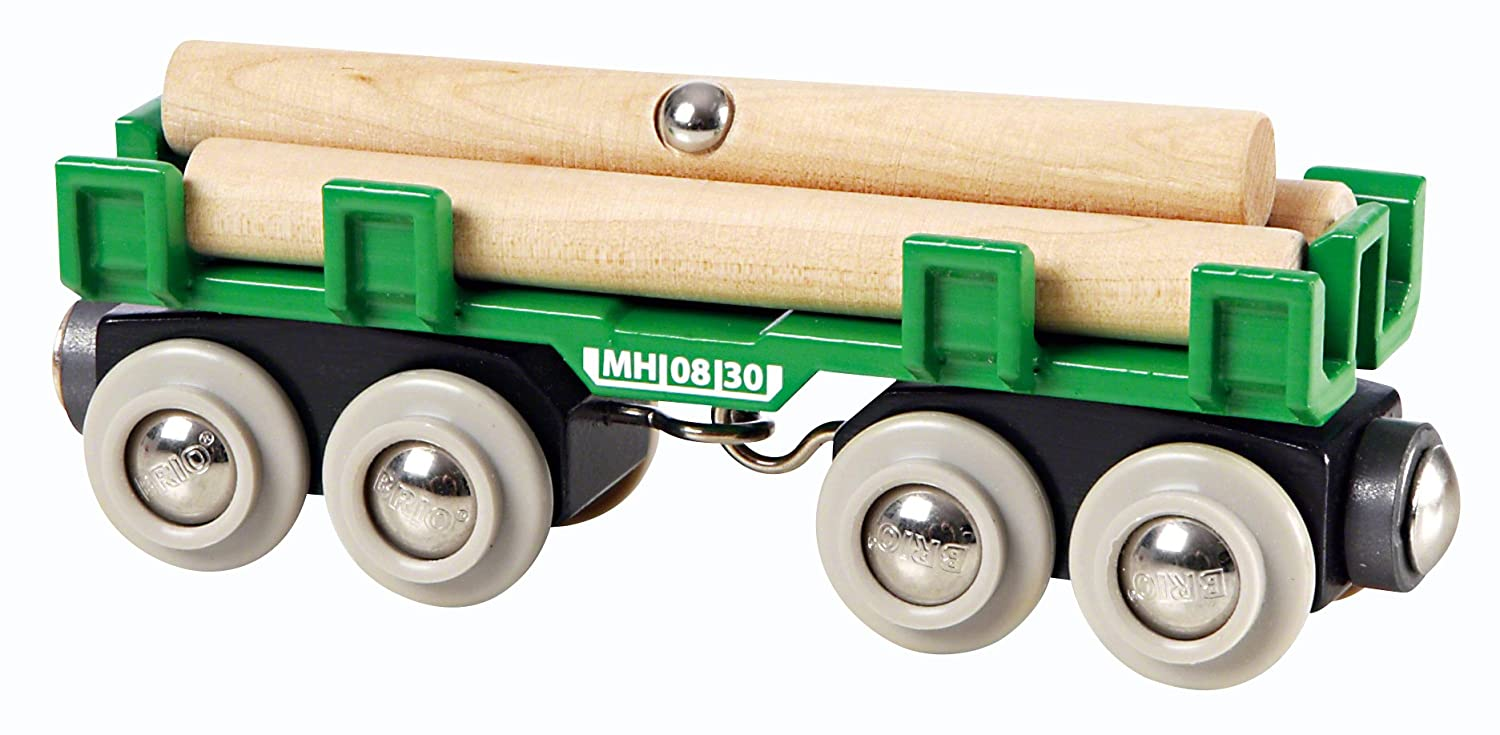 BRIO World - Lumber Loading Wagon 33696