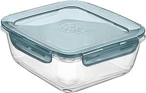 Bormioli Rocco Evolution Food Storage, 47.25 oz., Gray