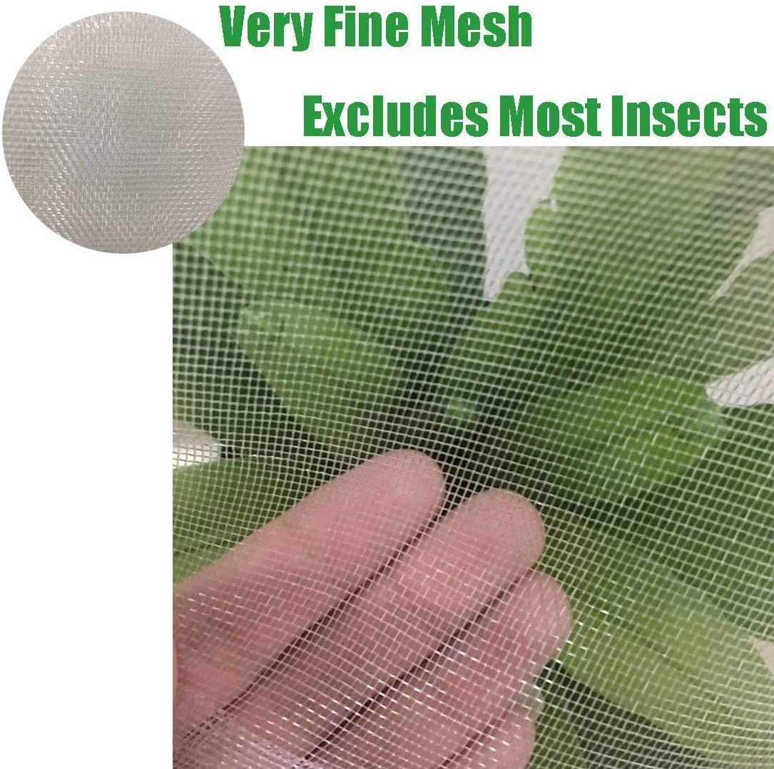 MAZU Plant Netting Premium Garden Netting Micromesh Anti-UV /& Insect Protection Summer Plant Covers Protect Plants Against Birds-6.5x19.5 of Mesh Netting White
