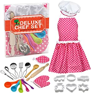 Coxeer DIY Baking Set Creative Cooking Toy Set Pretend Play Accessories for Children