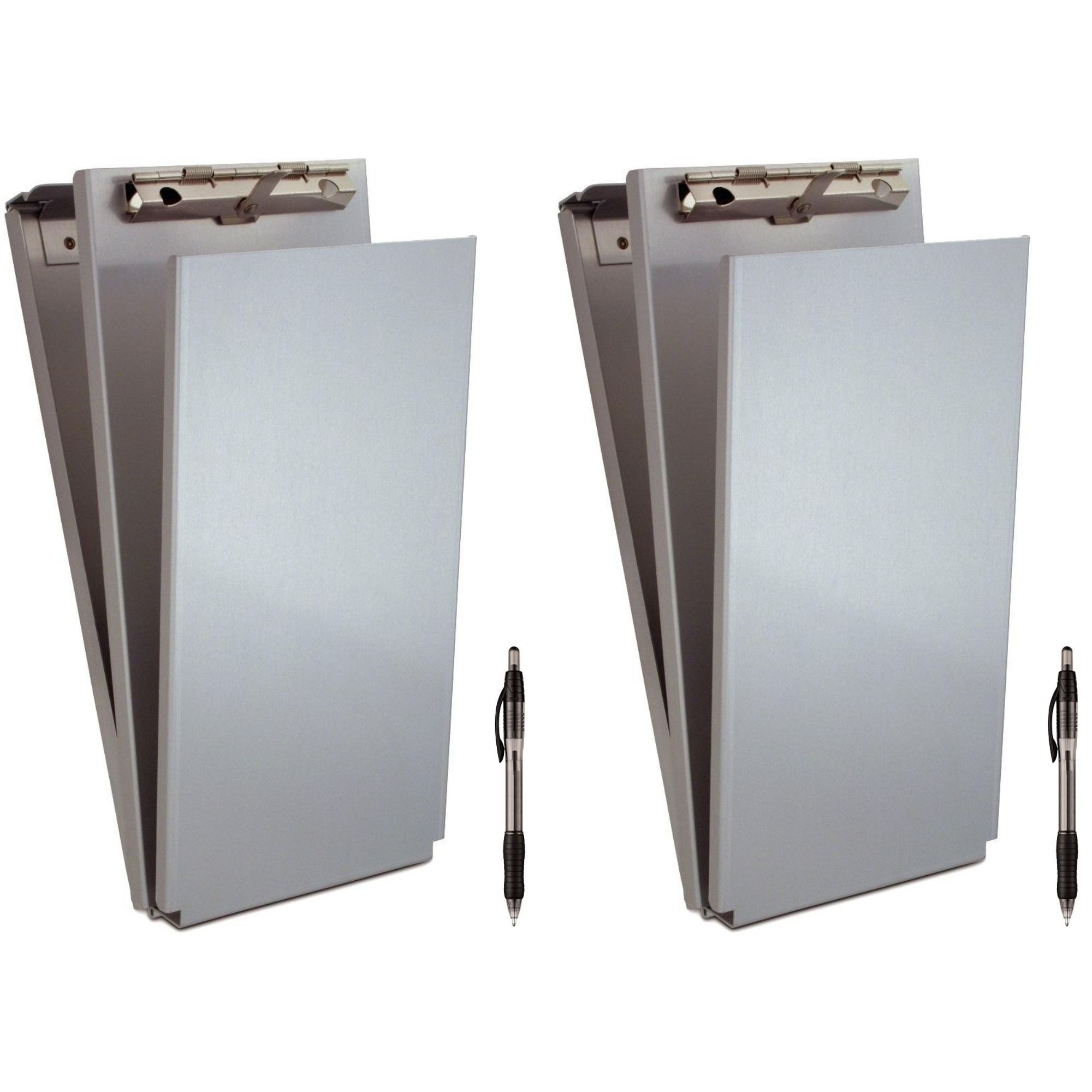 Saunders Recycled Aluminum A-Holder Form Holder, 4.25 x 9.5-Inches, 2 Holder with Black Ink Pen 2 Each by Saunders