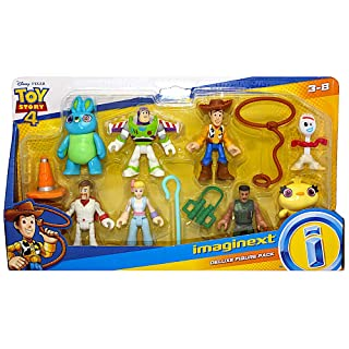 """Imaginext Toy Story Deluxe Figure Pack of 8 Figures 2.5"""" with Forky"""