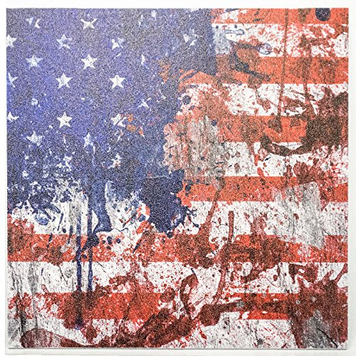 Infused Kydex USA: 1 Sheet of 7.5' x 7.5' x .080' Infused Kydex Material - USA Paint Print