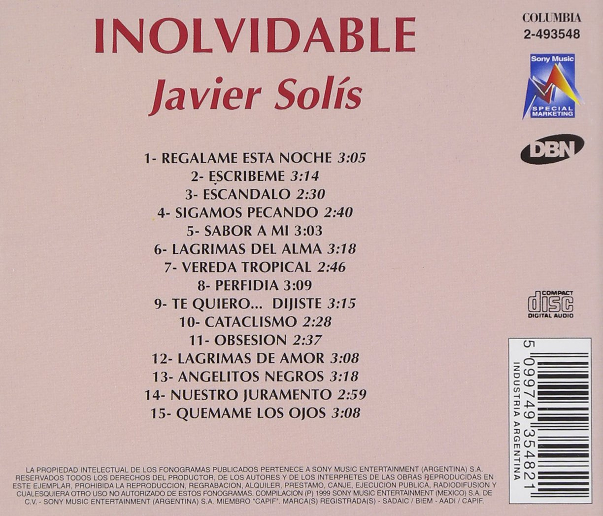 Coleccion Inolvidable by Sony Bmg Europe