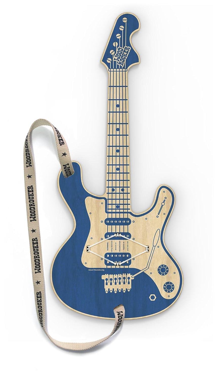 Woodrocker, the smart guitar - mit Gratis APP: Diese Luftgitarre funktioniert mit deinem Apple® iPhone® oder iPod® touch ab iOS8 (Blau) Neue Freunde GmbH