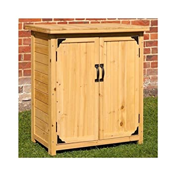 Fabulous Cravog Garten-Aufbewahrungsbox aus Holz, Zedernholz, kleiner  KS85