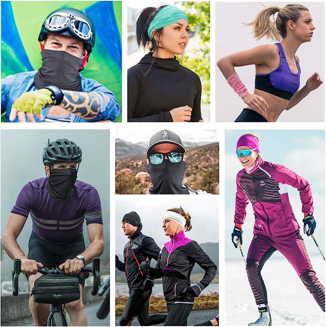 qualidyne UV Protection Face Mask Fashion Bandana Balaclavas Magic Scarf Neck Gaiter Headwrap Helmet Liner for Sports Casual