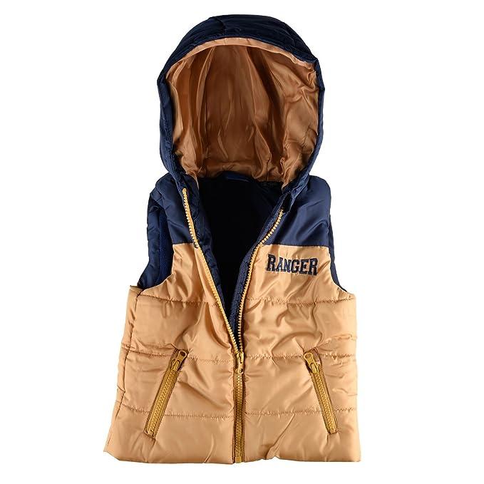 Chaqueta plumas sin mango, con capucha para niño: Amazon.es ...