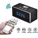 FULAO HD 1080P Wifi Alarm Clock Camera Night Vision/Motion Detection/Home spy Cameras