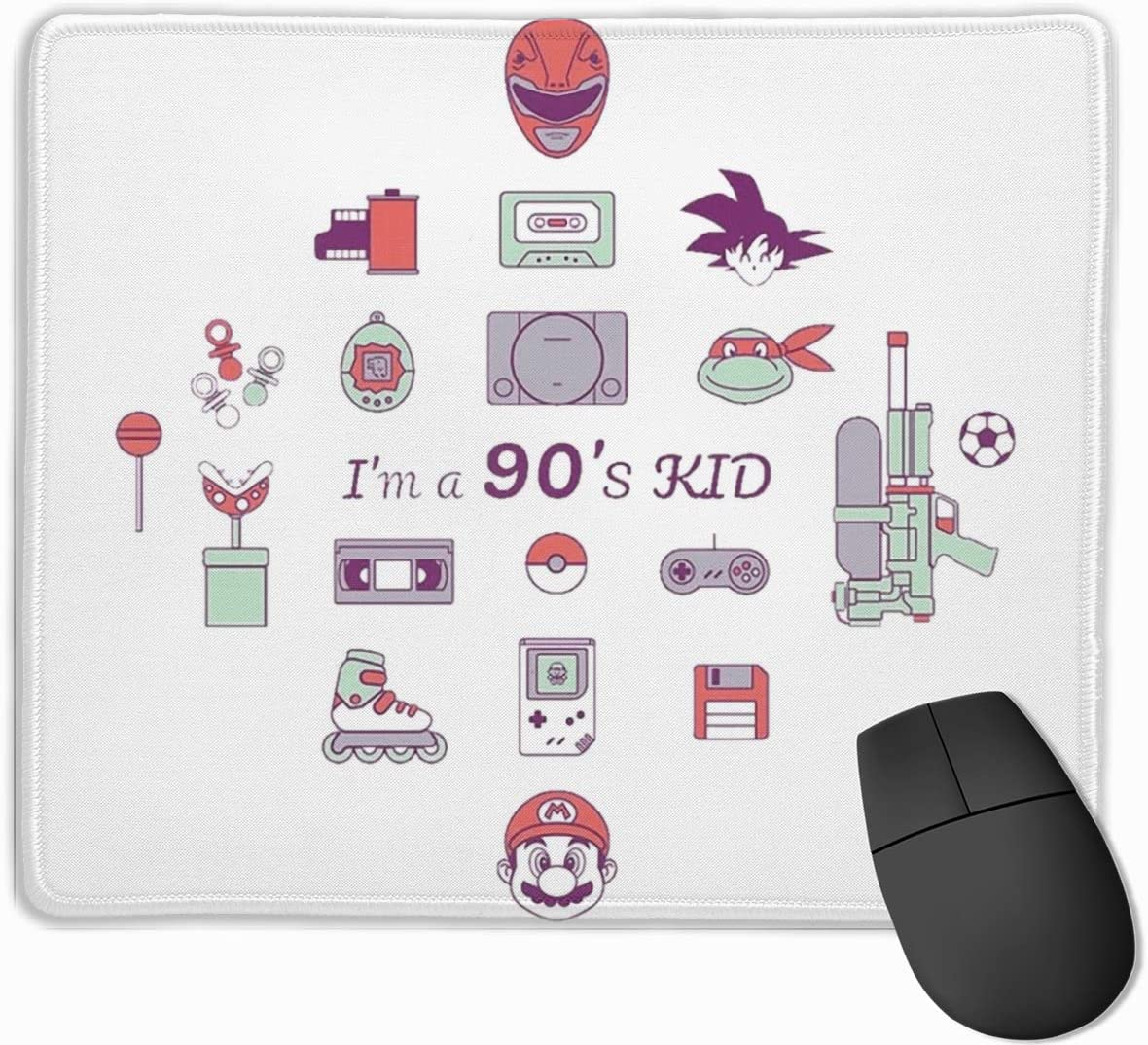 DAIPLY Ink Sprites Away Studio Ghibli Computer Laptop Mousepad Stitched Edge Gaming Mouse Pad 11.8x9.8