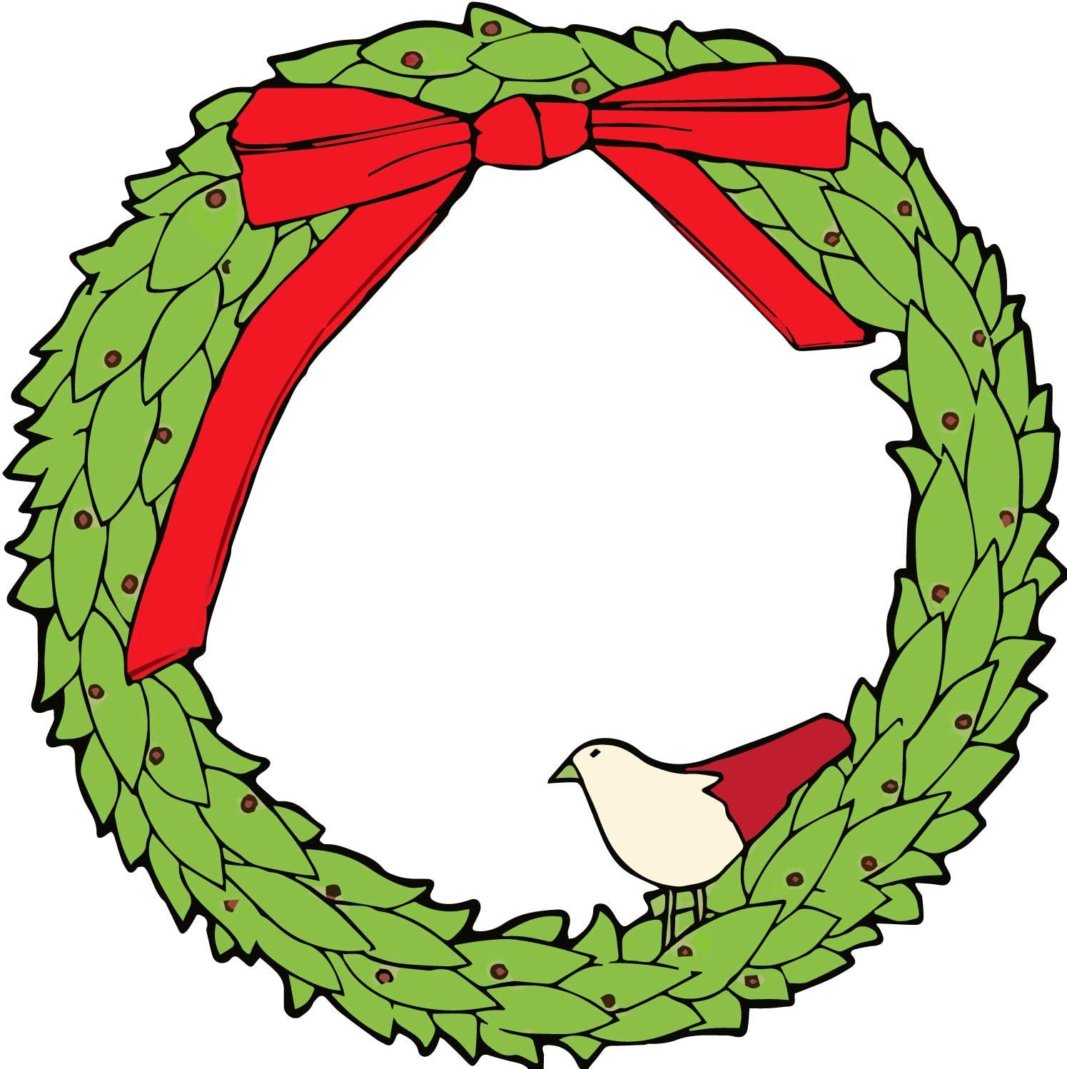 "Christmas Wreath with Holly and Partridge 11"" Magnet Seasonal Holiday Decor for Car"
